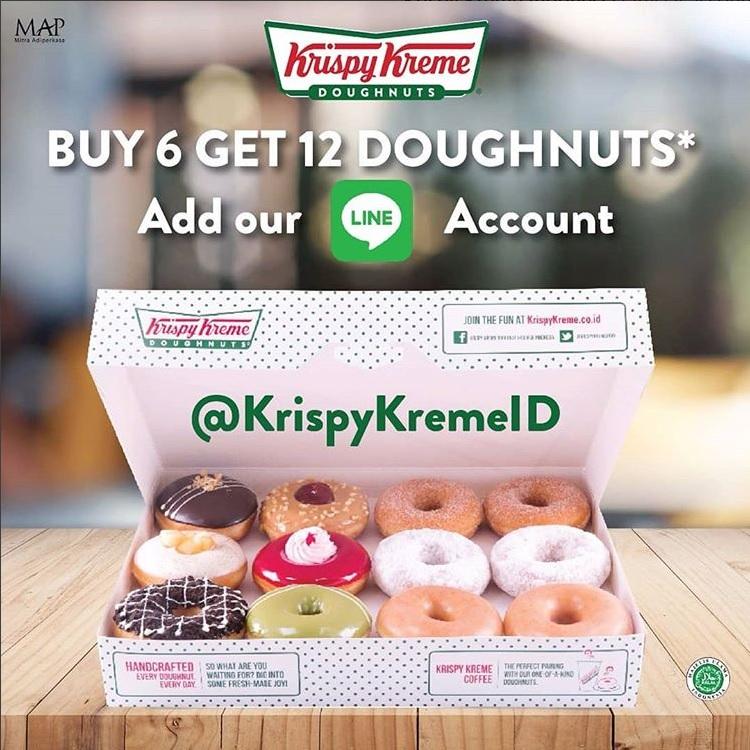 Promo Donat Krispy Kreme Beli 6 Donat Dapat 1 Lusin