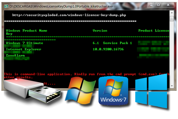 Windows License Key Dump v1.0 [Portable][Recupera las claves de Windows y otros programas instalados]