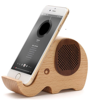 Wooden Elephant Portable Speaker