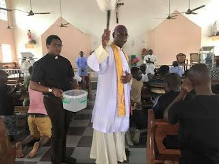 Photos: Days after massacre, Ozubulu Catholic church blessed and re-dedicated to God
