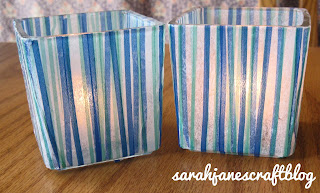 Mod Podge and Tissue Paper Candle Holders