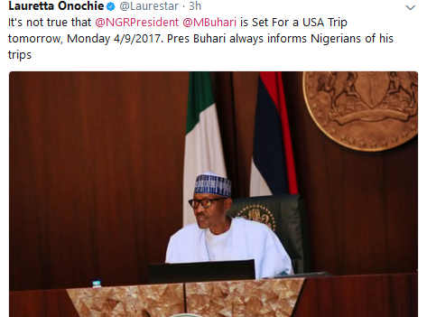 LO Pres. Buhari Not Travelling To US- Presidency News