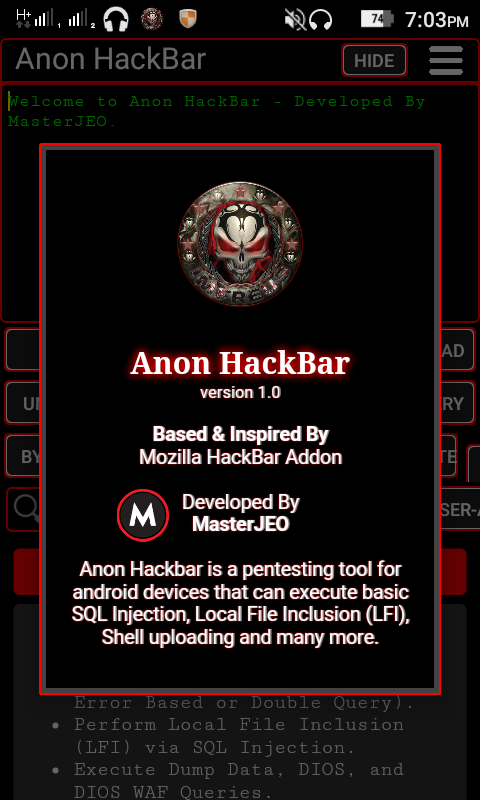 Anon HackBar Version 1 0 (HackBar Mobile Version) - Maqlo-Heker