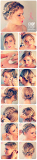 #7 updo for short hair