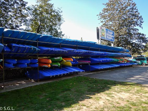 Canoas para el descenso del Sella