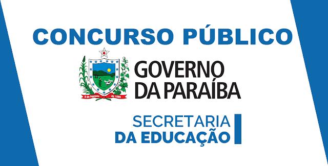 edital concurso SEE/PB para professores da Paraíba