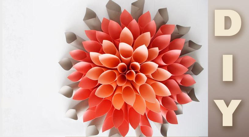 girlanda de flores de papel DIY - Decoração