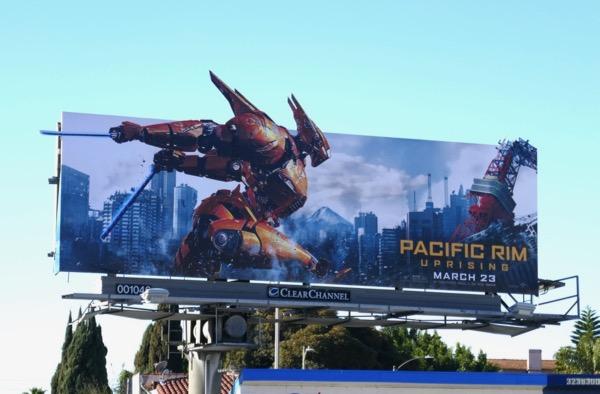 Pacific Rim Uprising Saber Athena billboard