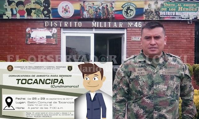 Gran amnistía para remisos del país del 25 al 29 de septiembre próximo en Tocancipá