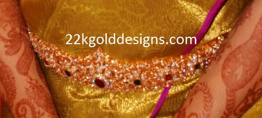 Ruby Emerald Stones Diamond Vaddanam