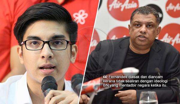 'Tony Fernandes terpaksa nyatakan sokongan terhadap Najib' - Syed Saddiq dedah tekanan yang dihadapi oleh CEO AirAsia