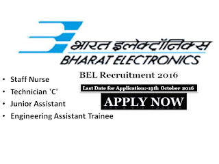 Staff Nurse Jobs, BEL, Bharat Electrical Limited, Bangalore, karnataka, Nursing Recruitment, Engineering jobs, Staff Nurse, Nurse, Vacancy, Recruitment, 2016,2017,Notification,