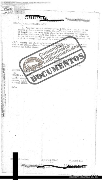 Military Attache Report Argentina. Subject German Submarine U-530. BID N-8025.