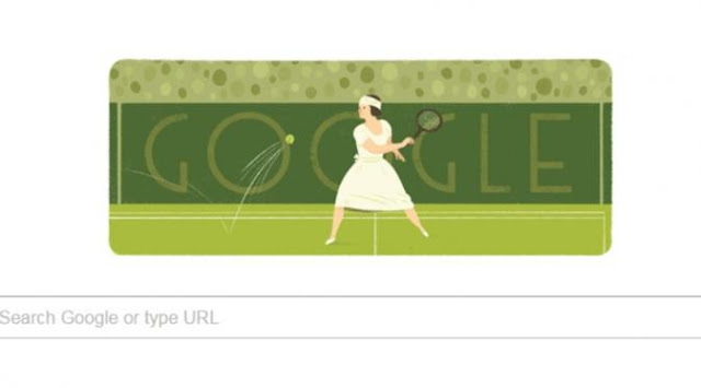Petenis Suzanne Lenglen Google Doodle Hari Ini