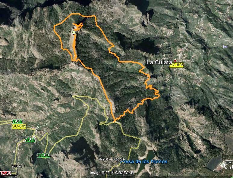 Mapa ruta circular Roque Nublo