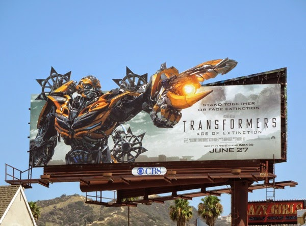 Bumblebee Transformers Age of Extinction special extension billboard