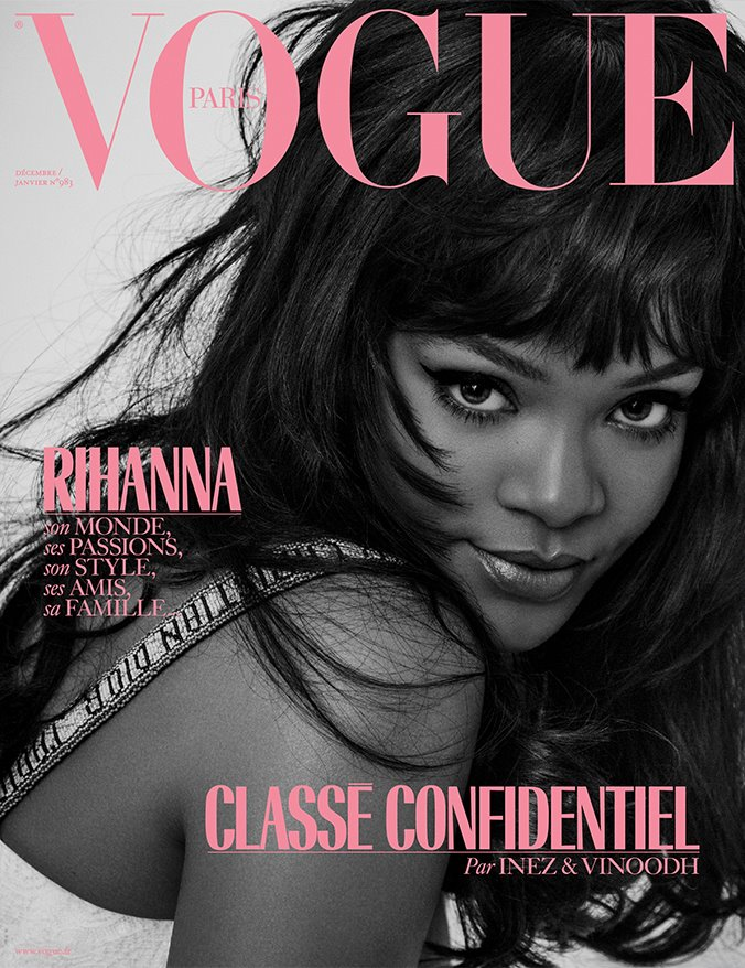 Vogue Paris December January 2017/18 starring Rihanna