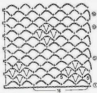 Ponto de Crochê Com Gráfico