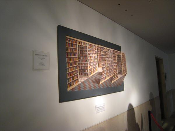 Kütüphane Paradoks Tablo Göz Yanılması