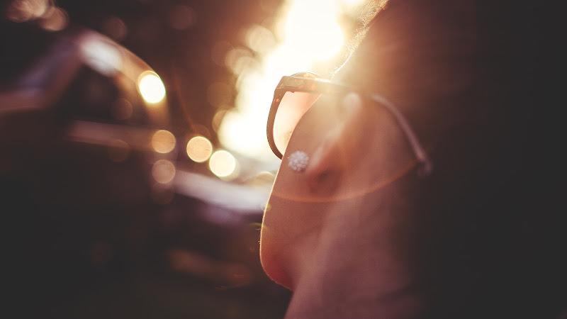 Girl Watching the Sunset HD