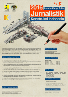 Lomba Karya Tulis Jurnalistik Kontruksi Indonesia 2016  Kementrian PPUR