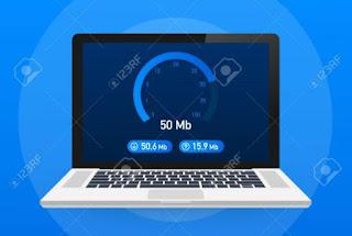 atau mengecek kecepatan internet melalui website speed test dan situs lainnya Cara Mengetahui Kecepatan Internet - Top 5 Situs Web Internet Speed Test