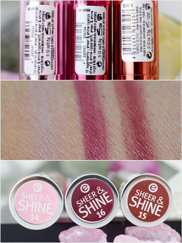 essence, Sortimentsupdate Herbst Winter 2016, sheer and shine lipstick, swatch