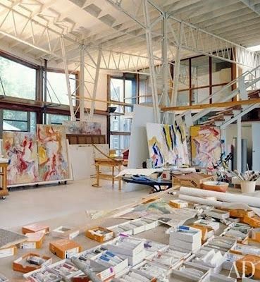 Workspaces Of The Greatest Artists Of The World (38 Pictures) - Willem de Kooning, artist