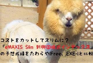 最低コスト『eMAXIS Slim 新興国株式インデックス』の予想成績をたわらやiFree、EXE-iと比較