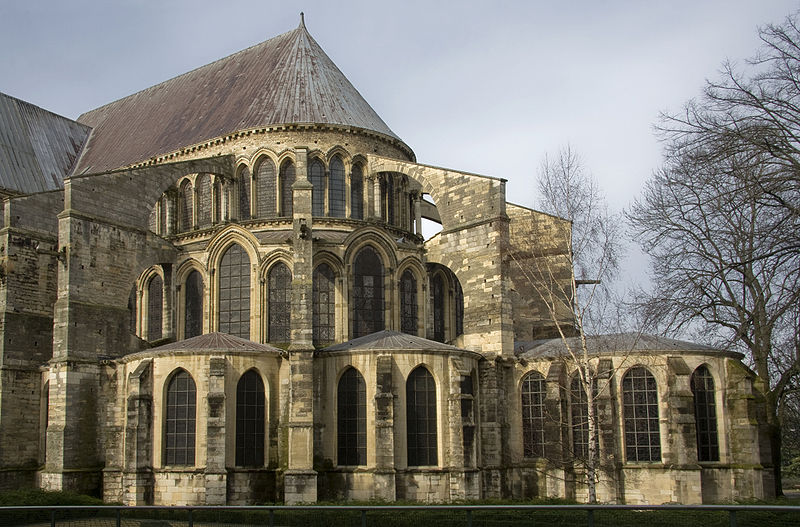 The Buttresses At Apse Of Basilica St Remi