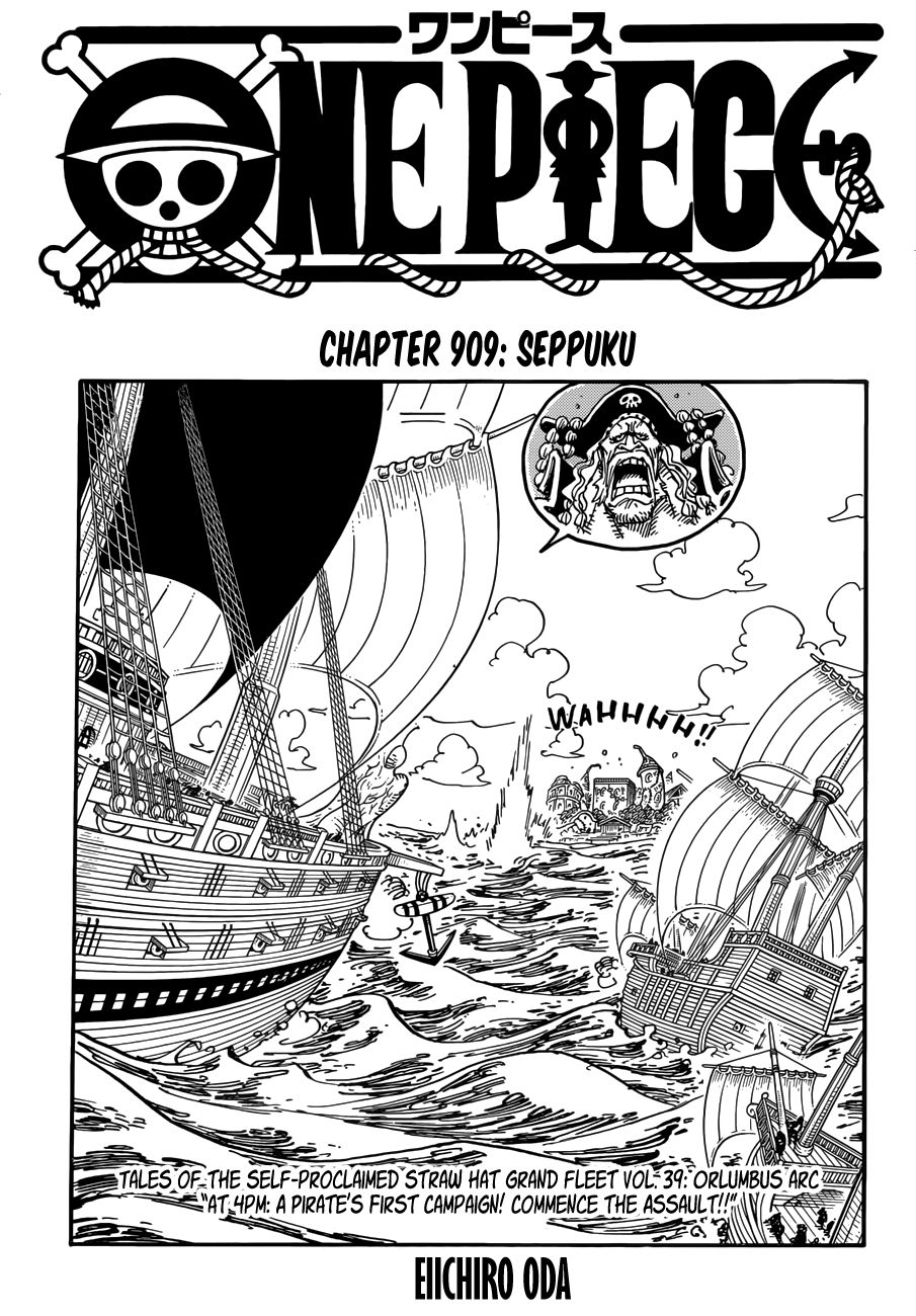 One Piece Manga Chapter 909: Seppuku (Engilish)