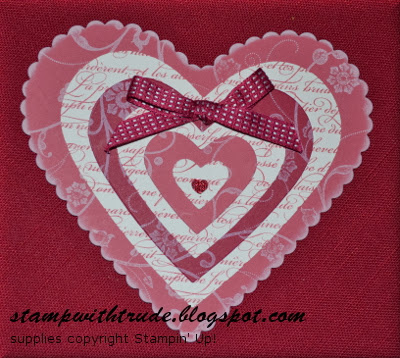 triple layer valentine, En Francais, Flowering Flourishes, Stamp with Trude, Stampin' Up!