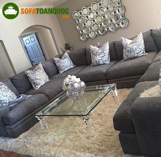 bộ bàn ghế sofa góc rộng cho phòng khách