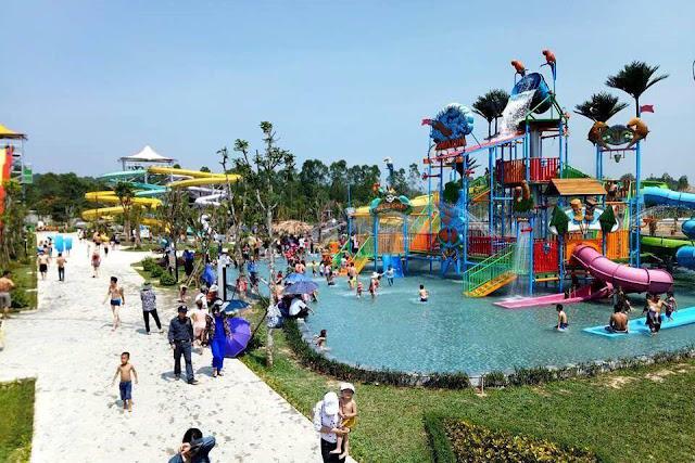 Công viên nước Thanh Hà sắp khai trương hè năm 2019