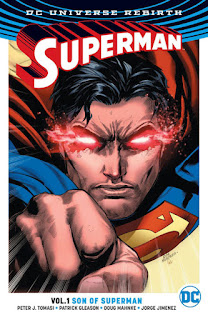 Review Superman Volume One Son of Superman Peter J. Tomasi Patrick Gleason Doug Mahnke Jorge Jimenez Superman Clark Kent Superboy Jonathan Kent Lois Lane DC Comics cover trade paperback tpb comic book