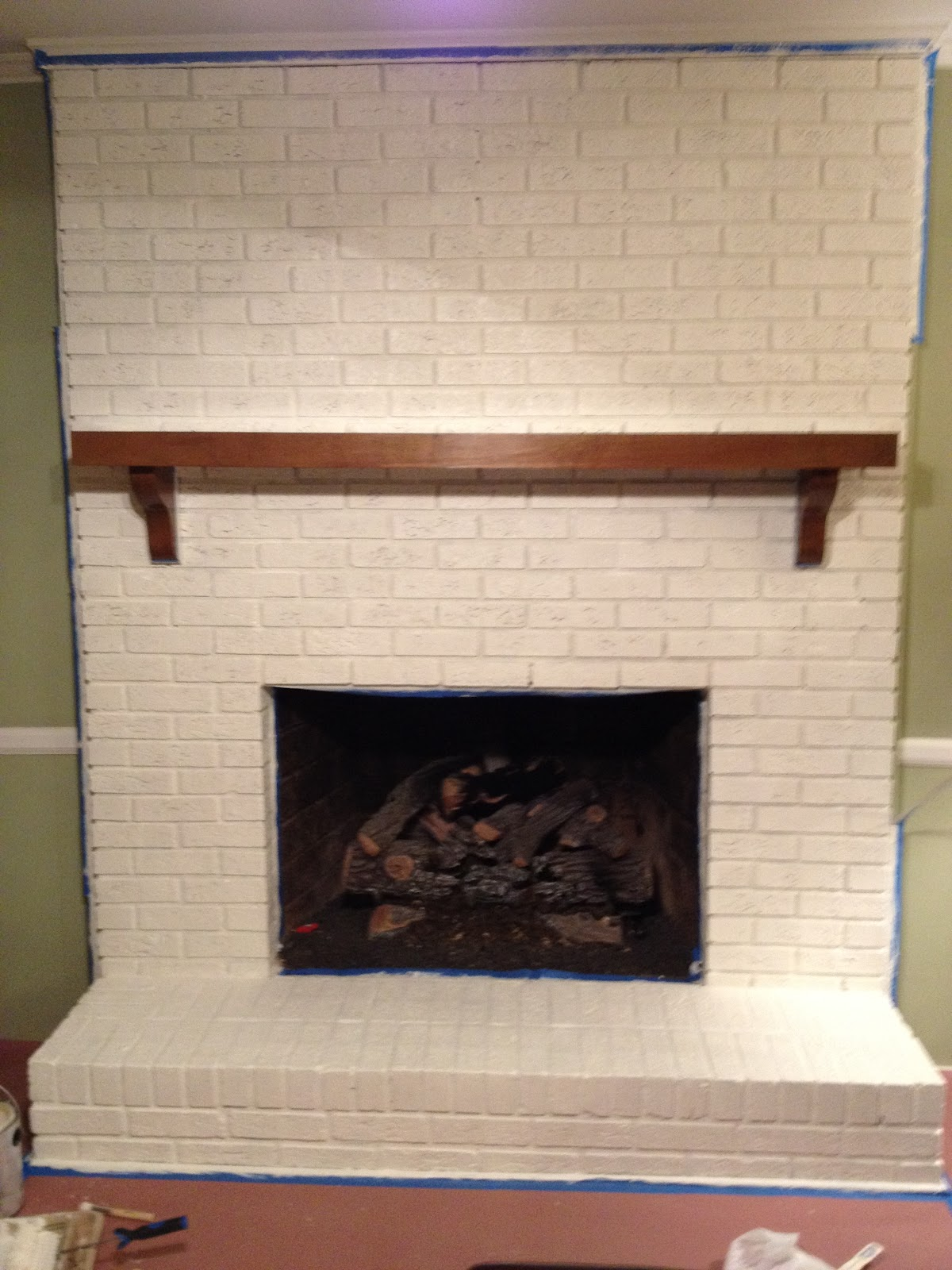 Blog Decor Coaxing Paint That Ugly Brick Fireplace