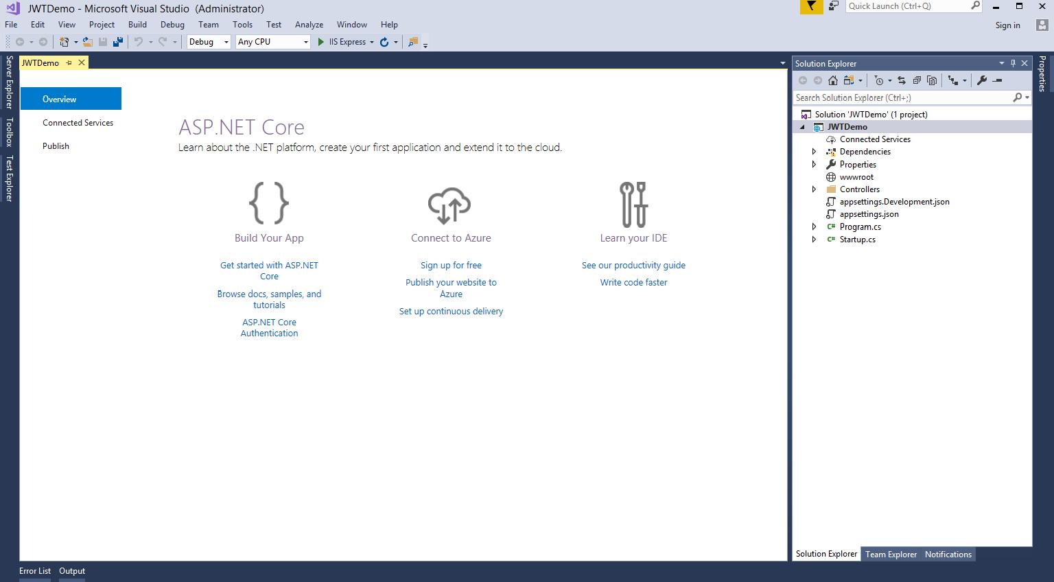 JWTs in ASP NET Core 2 0