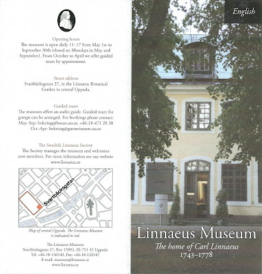The Linnaeus Museum brochure.