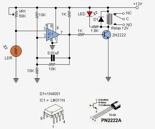 education of electronic ldr switch circuit diagrams. Black Bedroom Furniture Sets. Home Design Ideas