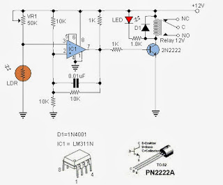 Education of Electronic: LDR switch circuit diagrams