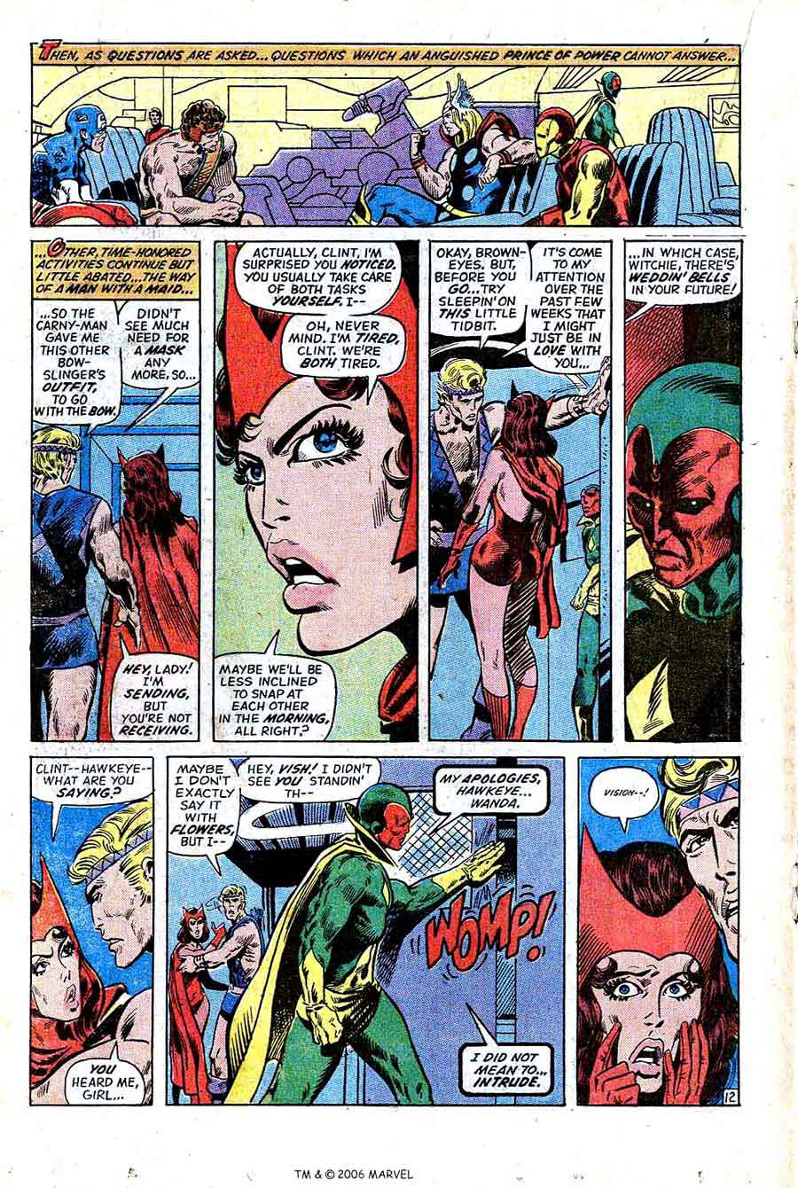 Avengers v1 #99 marvel comic book page art by Barry Windsor Smith