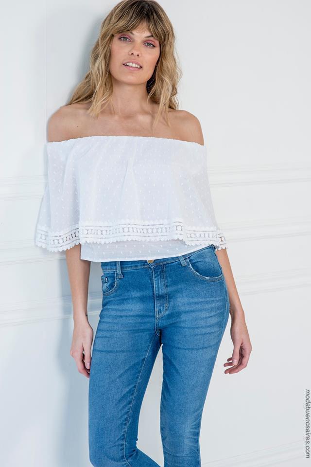 Blusas de moda para mujer verano 2018. Ropa de moda 2018.