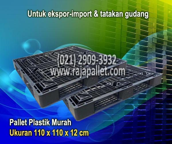 Pallet Plastik  Ukuran 110 x 110  x 12 cm Untuk Gudang, Eksport-Import