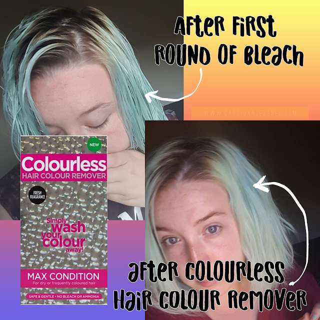 After bleaching my hair and after using Colourless hair colour remover