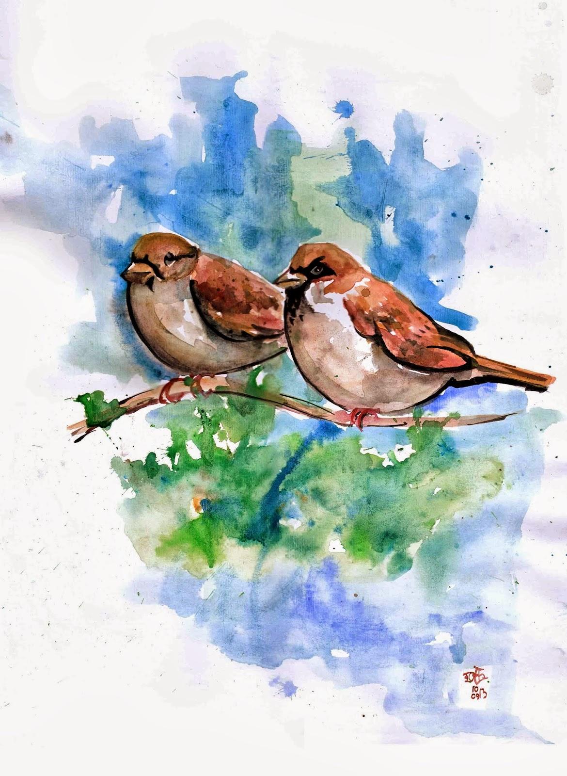 Gambar Ilustrasi Burung Gereja
