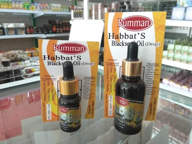 Habbat's Blackseed Oil Drop Rumman 30ml Minyak Habbatussauda Tetes