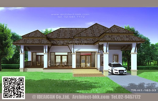 Tropical Style 183 on Tropical House Plans Designs