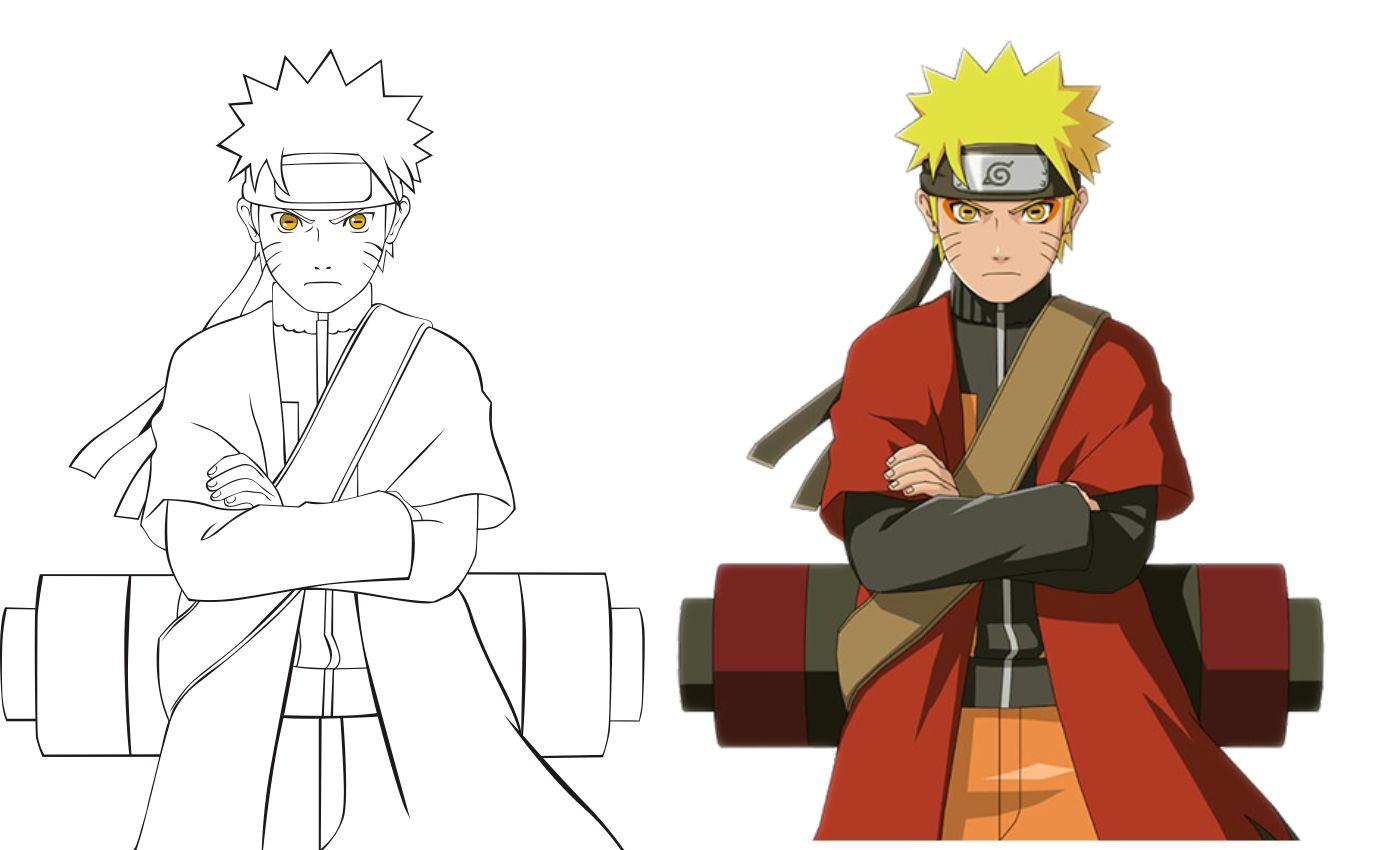 Contoh Gambar Ilustrasi Kartun Naruto