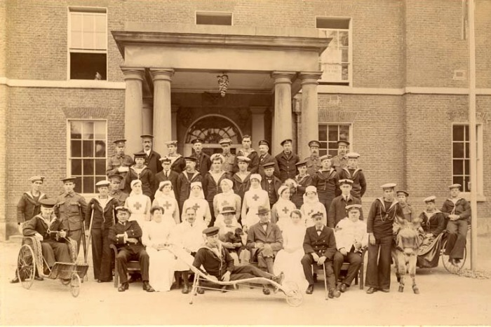 Convalecientes de la Primera Guerra Mundial en Chatsworth