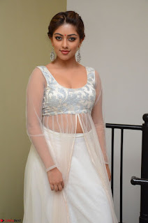 Anu Emmanuel in a Transparent White Choli Cream Ghagra Stunning Pics 115.JPG